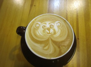 My adorable coffee in Seattle, Washington, USA