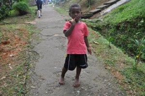 Little kid in village