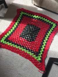 Crocheted baby blankie