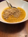 Butternut squash and white bean soup with quinoa -- 3 times a day