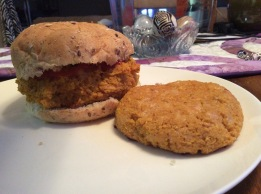 Veggie Puree Quinoa Burgers - w/ sweet potato and chickpeas